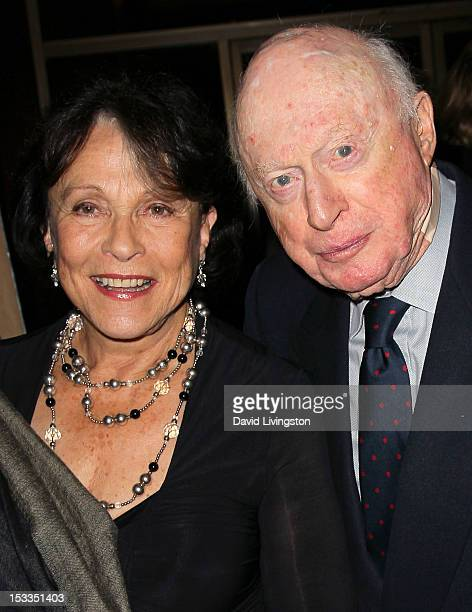 Actors Claire Bloom and Norman Lloyd attend the Academy of Motion Picture Arts and Sciences presentation of the 60th anniversary of Chaplin's...