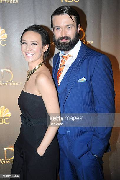 Actors Claire Cooper and Emmett Scanlan attend the 'AD The Bible Continues' New York Premiere Reception at The Highline Hotel on March 31 2015 in New...