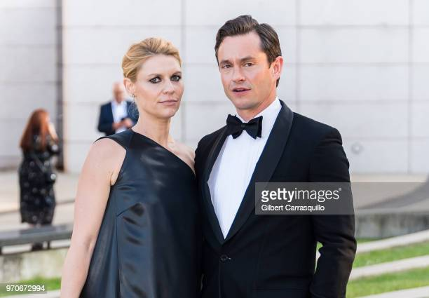 Actors Claire Danes and Hugh Dancy are seen arriving to the 2018 CFDA Fashion Awards at Brooklyn Museum on June 4 2018 in New York City