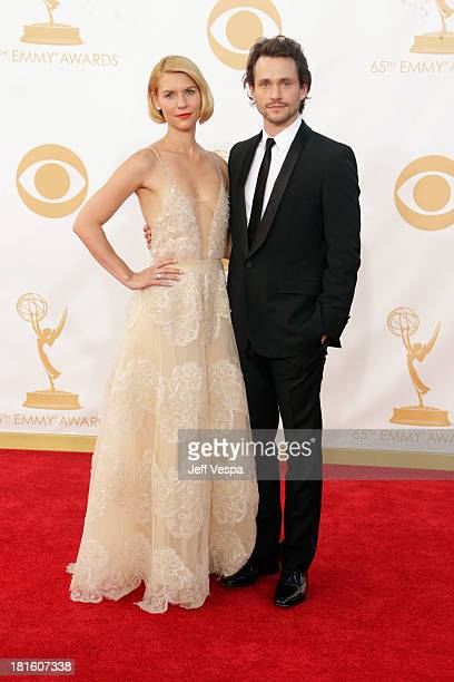 Actors Claire Danes and Hugh Dancy arrive at the 65th Annual Primetime Emmy Awards held at Nokia Theatre LA Live on September 22 2013 in Los Angeles...