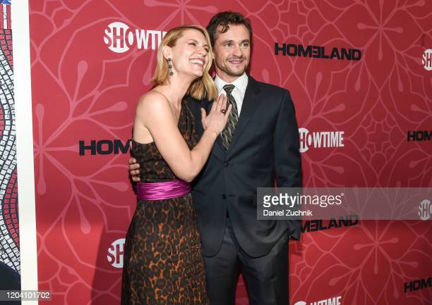 """Actors Claire Danes and Hugh Dancy attend Showtime's """"Homeland"""" Season 8 premiere at Museum of Modern Art on February 04, 2020 in New York City."""
