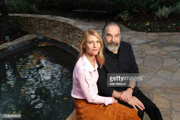 Actors Claire Danes and Mandy Patinkin are photographed for Los Angeles Times on January 13, 2020 in Pasadena, California. PUBLISHED IMAGE. CREDIT...
