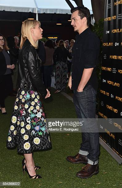 Actors Claire Danes and Ruppert Friend attend an Emmy For Your Consideration Event for Showtime's Homeland at the Zanuck Theater at 20th Century Fox...
