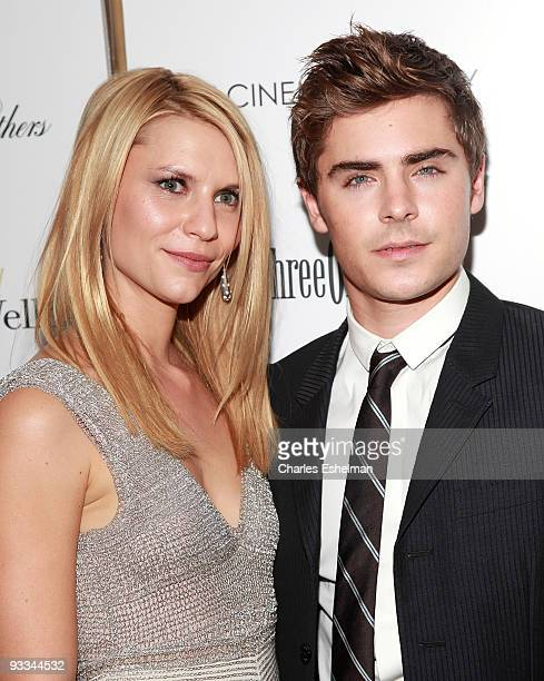 """Actors Claire Danes and Zac Efron attend a screening of """"Me And Orson Welles"""" hosted by the Cinema Society, Screenvision and Brooks Brothers at..."""