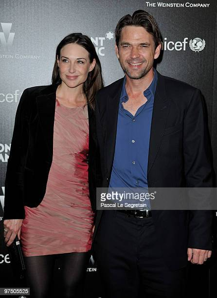 Actors Claire Forlani and Dougray Scott arrive at the Montblanc Charity Cocktail Hosted By The Weinstein Company To Benefit UNICEF held at Soho House...