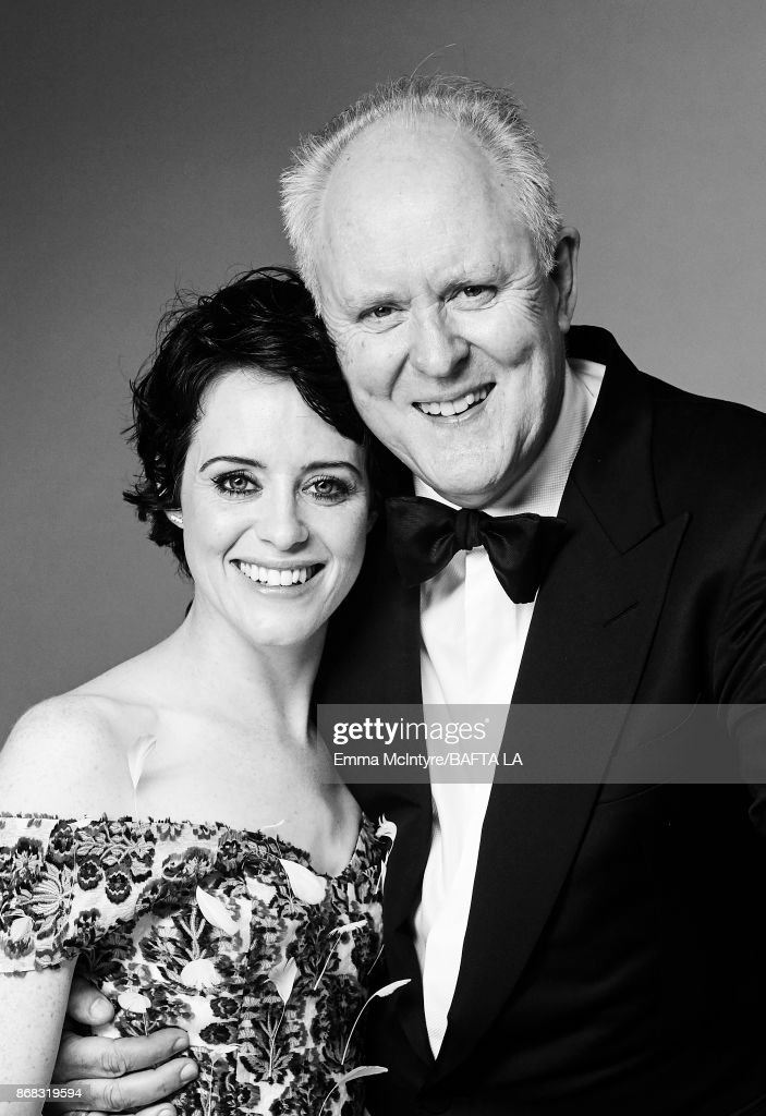 Actors Claire Foy and John Lithgow are photographed at the 2017 AMD British Academy Britannia Awards on October 27, 2017 in Los Angeles, California.