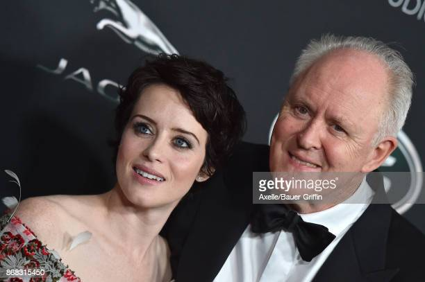 Actors Claire Foy and John Lithgow arrive at the 2017 AMD British Academy Britannia Awards at The Beverly Hilton Hotel on October 27 2017 in Beverly...