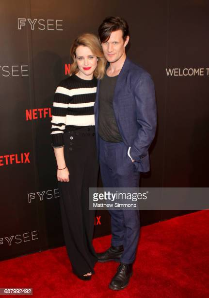 Actors Claire Foy and Matt Smith attend Netflix's 'The Crown' For Your Consideration Event at Netflix FYSee Space on May 24 2017 in Beverly Hills...