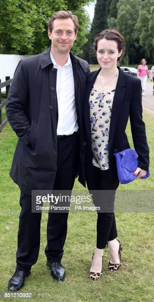 Actors Claire Foy and Stephen Campbell Moore arrive at the Cartier Queen's Cup polo tournament final at Guards Polo in Windsor Great Park Berkshire