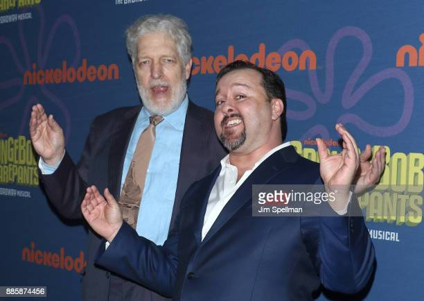 Actors Clancy Brown and Brian Ray Norris attend the 'Spongebob Squarepants' Broadway opening night after party at The Ziegfeld Ballroom on December 4...