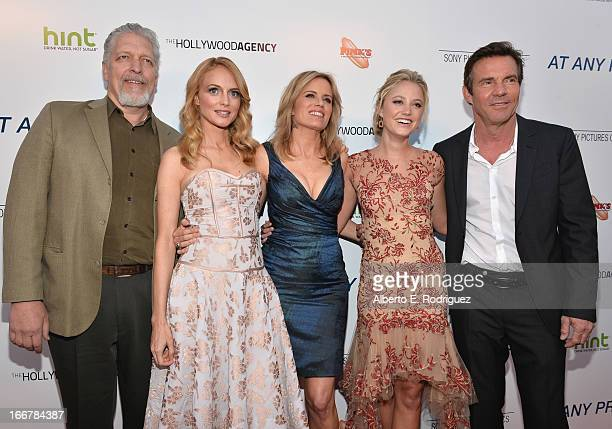 Actors Clancy Brown Heather Graham Kim Dickens Maika Monroe and Dennis Quaid attend the premiere of Sony Pictures Classics' 'At Any Price' at the...
