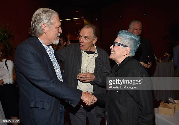 Actors Clancy Brown Tom Bower and Usula Bower attend a special screening of '99 Homes' on September 2 2015 in Los Angeles California