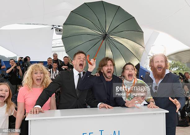 Actors Clara Wettergren guest Johannes Bah Kuhnke director Ruben Ostlund actors Lisa Loven Kongsli Vincent Wettergren and Kristofer Hivju attend the...
