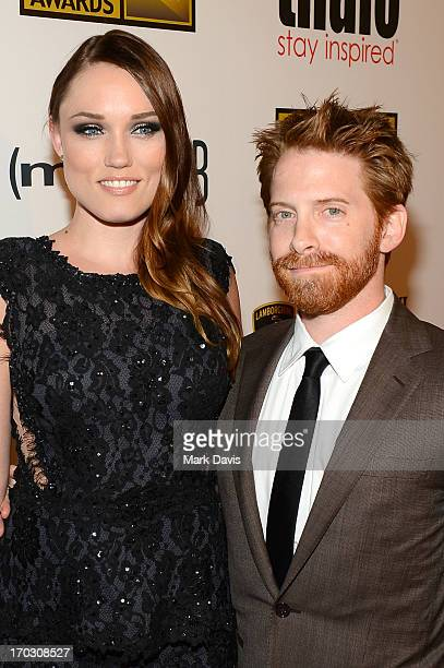 Actors Clare Grant and Seth Green arrive at Broadcast Television Journalists Association's third annual Critics' Choice Television Awards at The...