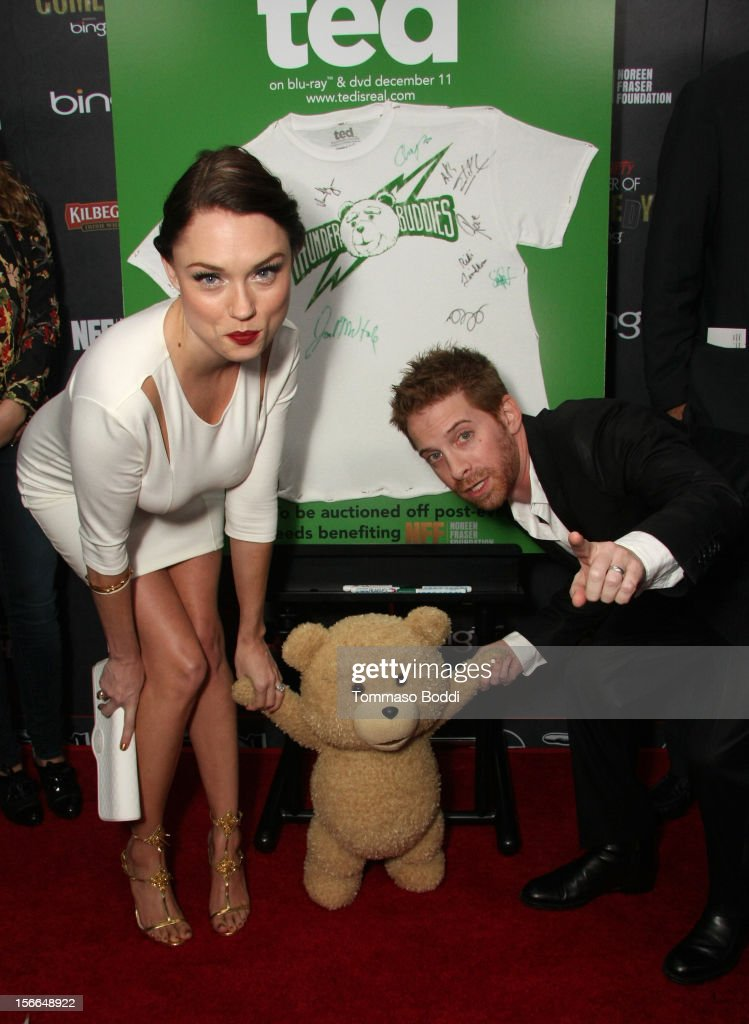 Actors Clare Grant (L) and Seth Green arrive at Variety's 3rd annual Power of Comedy event presented by Bing benefiting the Noreen Fraser Foundation held at Avalon on November 17, 2012 in Hollywood, California. The Ted Blu-ray and DVD will be released on December 11, 2012.