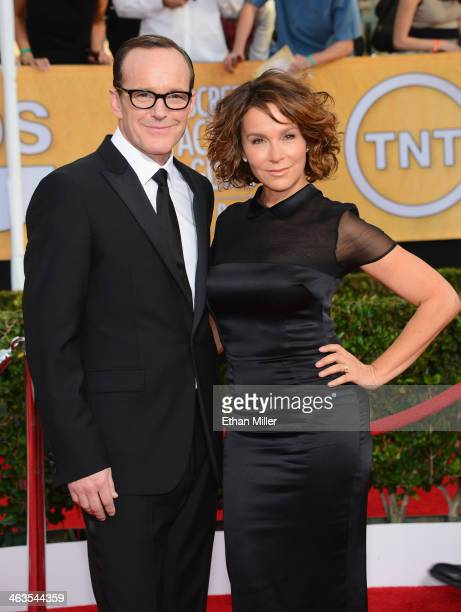 Actors Clark Gregg and Jennifer Grey attend the 20th Annual Screen Actors Guild Awards at The Shrine Auditorium on January 18, 2014 in Los Angeles,...