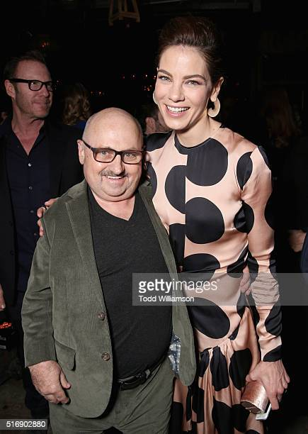 Actors Clark Middleton and Michelle Monaghan attend The Path Premiere Party at ArcLight Hollywood on March 21 2016 in Hollywood California