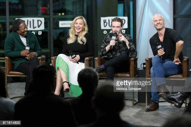 Actors Clarke Peters Abbie Cornish and Caleb Landry Jones and filmmaker Martin McDonagh discuss 'Three Billboards Outside Ebbing Missouri' at Build...