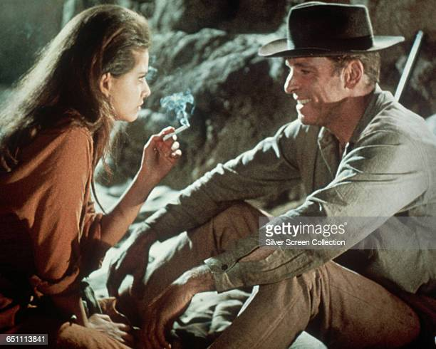 Actors Claudia Cardinale as Mrs Maria Grant and Burt Lancaster as Bill Dolworth in the western 'The Professionals 1966