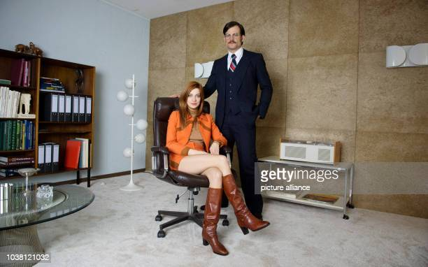 Actors Claudia Eisinger and Torben Liebrecht pose during a photocall at the set of the sixpart television series 'Zarah' by German public broadcaster...