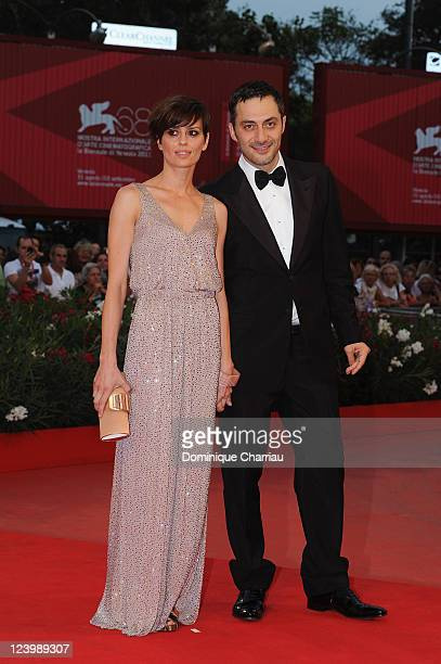 Actors Claudia Pandolfi and Filippo Timi attend the Quando la notte Premiere during the 68th Venice International Film Festival at Palazzo del Cinema...