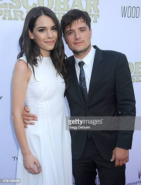 Actors Claudia Traisac and Josh Hutcherson arrive at the Los Angeles premiere of Escobar Paradise Lost at ArcLight Hollywood on June 22 2015 in...
