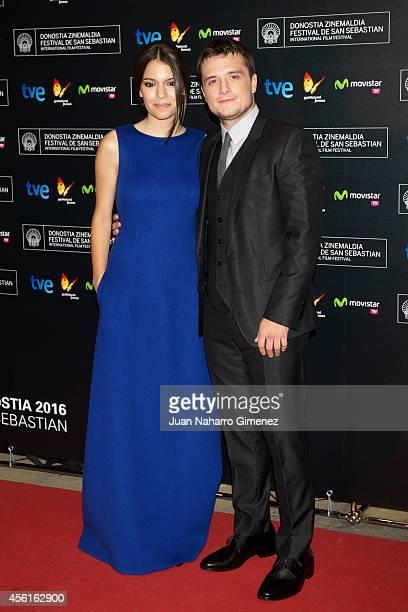 Actors Claudia Traisac and Josh Hutcherson attend the 'Escobar Paradise Lost' premiere during the 62nd San Sebastian International Film Festival at...