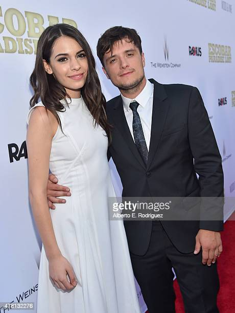 Actors Claudia Traisac and Josh Hutcherson attend the premiere of RADiUS and The Weinstein Company's 'Escobar Paradise Lost' at ArcLight Hollywood on...