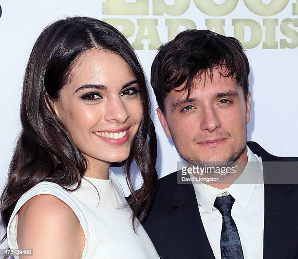 Actors Claudia Traisac and Josh Hutcherson attend the premiere of RADiUS and The Weinstein Company's Escobar Paradise Lost at ArcLight Hollywood on...
