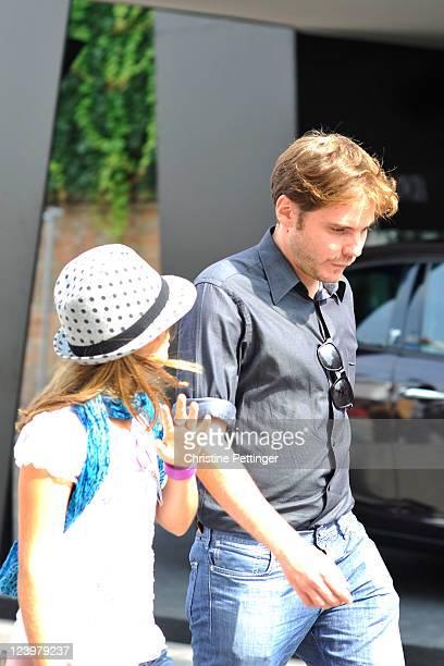 Actors Claudia Vega and Daniel Bruhl attend The 68th Venice International Film Festival on September 7 2011 in Venice Italy