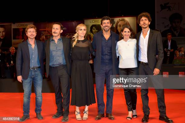 Actors Claudio Gioe, director Michele Alhaique, actors Greta Scarano, Pierfrancesco Favino, producer Alexandra Rossi and guest attend the 'The...