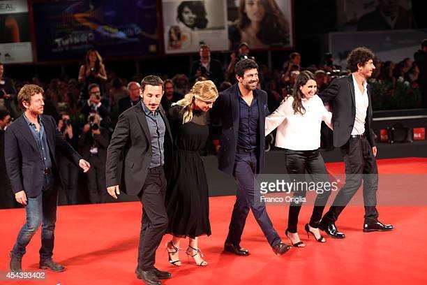 Actors Claudio Gioe director Michele Alhaique actors Greta Scarano Pierfrancesco Favino producer Alexandra Rossi and guest attend the 'The Humbling'...