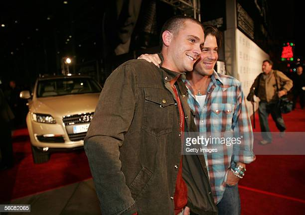 Actors Clayne Crawford and Christian Kane pose in front of Audi Q7 during AFI Fest presented by Audi opening night at the ArcLight Theatre November 3...
