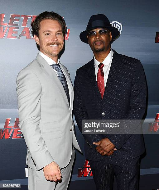 Actors Clayne Crawford and Damon Wayans attend the premiere of 'Lethal Weapon' at NeueHouse Hollywood on September 12 2016 in Los Angeles California