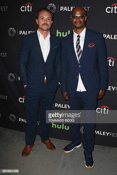 Actors Clayne Crawford and Damon Wayans attend the screening of Fox's 'Lethal Weapon' at The Tenth Annual PaleyFest Fall TV Previews event presented...