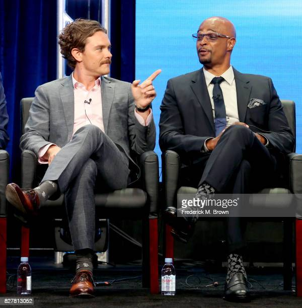 Actors Clayne Crawford and Damon Wayans of 'Lethal Weapon' speak onstage during the FOX portion of the 2017 Summer Television Critics Association...