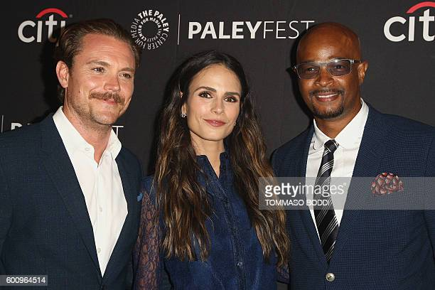 Actors Clayne Crawford Jordana Brewster and Damon Wayans attend the screening of Fox's Lethal Weapon at The Tenth Annual PaleyFest Fall TV Previews...