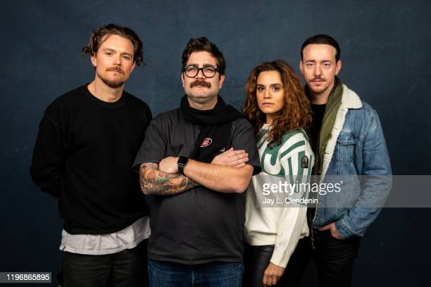 Actors Clayne Crawford writer/director Robert Machoian Sepideh Moafi and Chris Coy from 'The Killing of Two Lovers' are photographed in the LA Times...