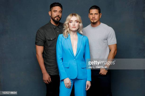 Actors Clayton Cardenas, Sarah Bolger and JD Pardo from 'Mayans M.C.' are photographed for Los Angeles Times on July 21, 2018 in San Diego,...