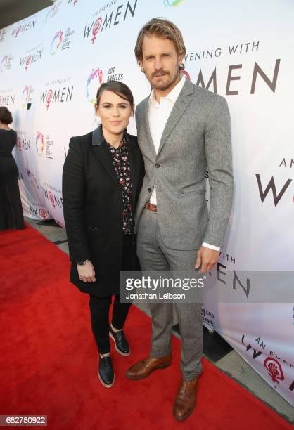 Actors Clea DuVall and Josh Pence at the Los Angeles LGBT Center's An Evening With Women at Hollywood Palladium on May 13 2017 in Los Angeles...