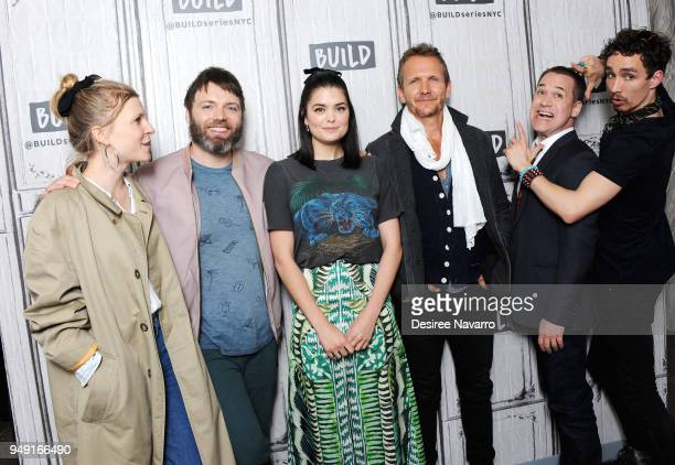 Actors Clemence Poesy Seth Gabe Samantha Colley Sebastian Roche TR Knight and Robert Sheehan visit Build Series to discuss the National Geographics...
