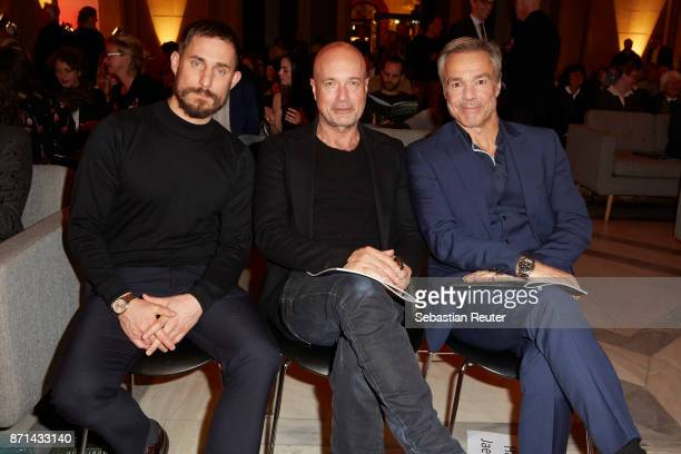 Actors Clemens Schick Christian Berkel and Hannes Jaenicke attend the preview screening of the new documentary 'Guardians of Heritage Hueter der...