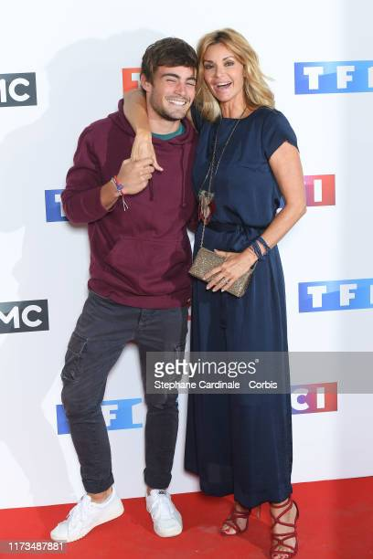 Actors Clement Remiens and Ingrid Chauvin attend the Groupe TF1 Photocall At Palais De Tokyo on September 09 2019 in Paris France