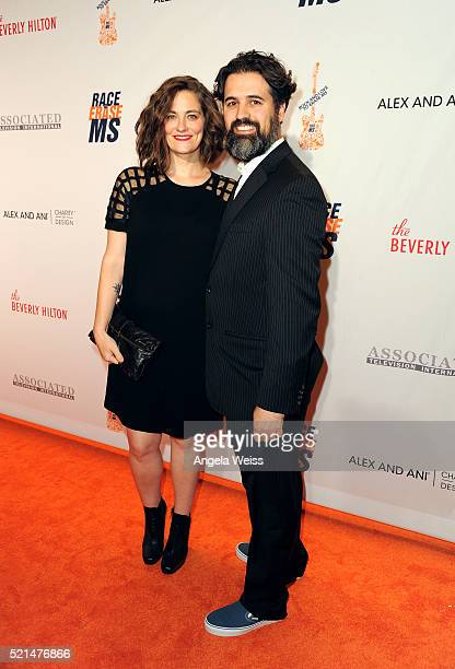 Actors Clementine Ford and Cyrus Wilcox attend the 23rd Annual Race To Erase MS Gala at The Beverly Hilton Hotel on April 15 2016 in Beverly Hills...