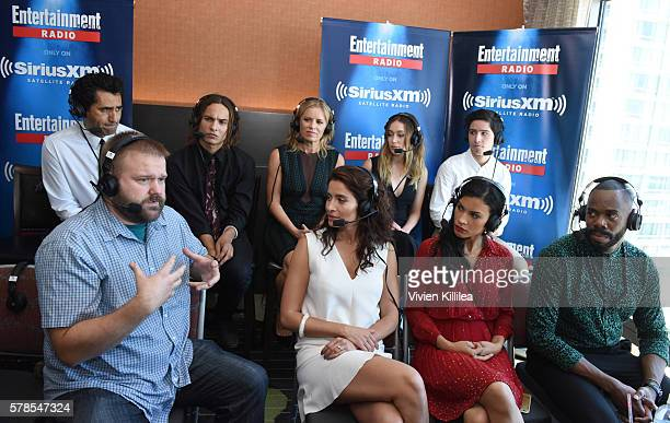 Actors Cliff Curtis and Frank Dillane actresses Kim Dickens and Alycia DebnamCarey actor Lorenzo James Henrie comic book writer Robert Kirkman...