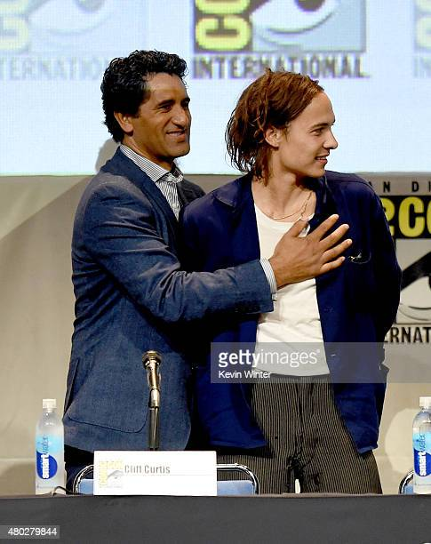 Actors Cliff Curtis and Frank Dillane speak onstage at AMC's 'Fear the Walking Dead' panel during ComicCon International 2015 at the San Diego...