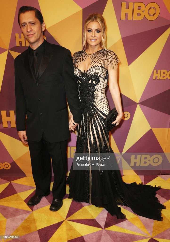 Actors Clifton Collikns Jr. (L) and Carmen Electra attends HBO's Official Golden Globe Awards After Party at Circa 55 Restaurant on January 7, 2018 in Los Angeles, California.