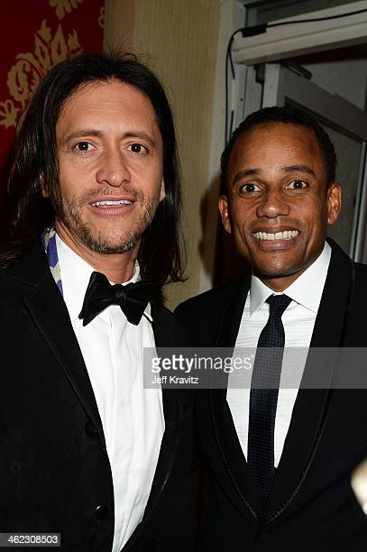 Actors Clifton Collins Jr and Hill Harper attend HBO's Official Golden Globe Awards After Party at The Beverly Hilton Hotel on January 12 2014 in...