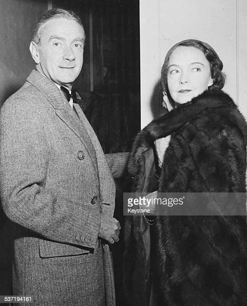 Actors Clifton Webb and Lillian Gish attending Hollywood party together California March 4th 1946
