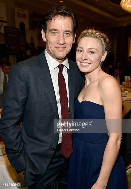 Actors Clive Owen and Juliet Rylance attend the 15th Annual AFI Awards at Four Seasons Hotel Los Angeles at Beverly Hills on January 9 2015 in...